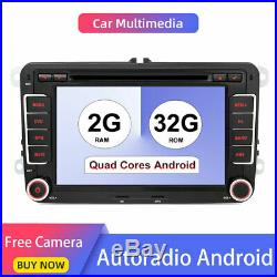 32G Android 8.1 2 Din In dash Voiture GPS Stereo Radio POUR Volkswagen Polo Golf