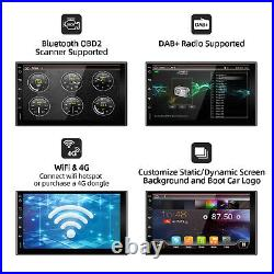 7''Android 10.0 4Core Double Din Car Radio Stereo GPS WIFI USB DAB+ 2GB+32GB BT