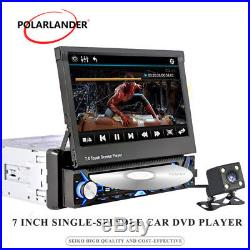 7 DVD/MP3/FM/USB 1Din MP5 Player Bluetooth Touch Screen HD Car Radio GPS Stereo