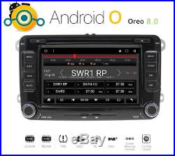 Android 8 radio de voiture pour VW T5 Seat Skoda Golf Gps Mp3 DVD USB DAB+
