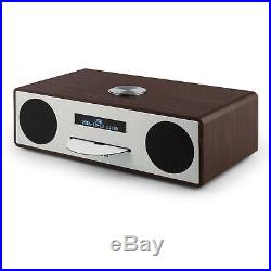 Auna Stanford Radio réveil lecteur CD DAB DAB+ Bluetooth USB MP3 AUX FM noisette