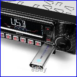 Autoradio Bluetooth Look Retro Auna Lecteur CD Mp3 Usb Sd Radio Fm Rds Streaming