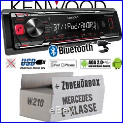 KENWOOD auto radio pour Mercedes Classe E W210 BLUETOOTH MP3 USB IPHONE ANDROID