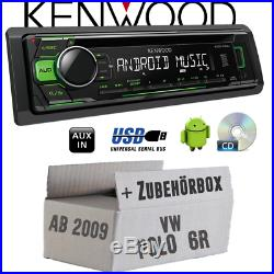 KENWOOD radio pour VW POLO 6R vert CD/MP3/USB android-steuerung