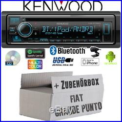 Kenwood Radio pour Fiat Grande Punto 199 Bluetooth IPHONE Android CD/MP3/USB