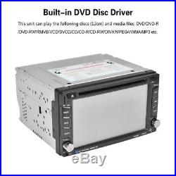 New 6.2 Double 2 Din Car DVD Player Radio Stereo GPS MP3 AUX USB Bluetooth X0