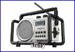 Perfect Pro Radio de chantier 5 Watts (USB, SD, Mp3) + 4 pies rechargeables