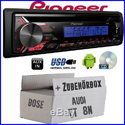 Pioneer AUTO Radio pour Audi TT 8N Bose CD MP3 USB Android VÉHICULE PERSONNEL
