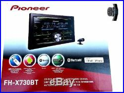 Pioneer Fh-X730bt Radio de Voiture 2 Din Bluetooth USB CD Mp3 Color