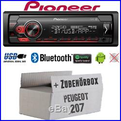 Pioneer Radio pour Peugeot 207 Bluetooth Spotify MP3 USB Android Montage Voiture