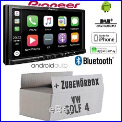 Pioneer Radio pour VW Golf 4 Bluetooth TFT DAB+ Apple Android Carplay Montage