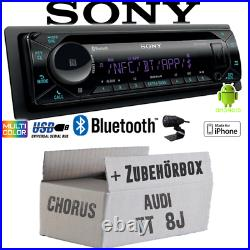 Radio sony Bluetooth CD/MP3/USB IPHONE Android Voiture Kit Pour Audi Tt 8J