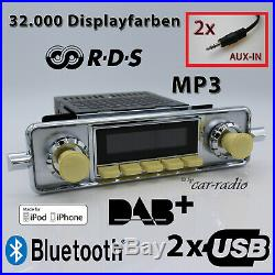 Retro Sound San Diego DAB+ Lot Complet VW Coccinelle Voiture Ancienne Radio USB
