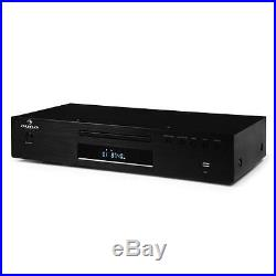 Set Hifi Stereo 2.0 Design Auna Ampli Lecteur CD Mp3 Usb Tuner Radio 600w Aux In
