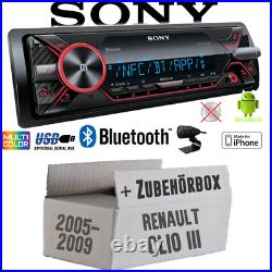 Sony Radio Pour Renault Clio 3 Bluetooth MP3 / USB IPHONE / Android Montage