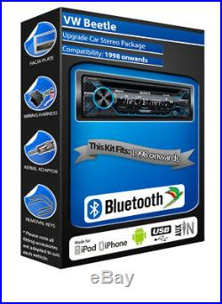 VW Beetle Lecteur CD, Sony MEX-N4200BT Voiture Radio Bluetooth Mains Libres Kit