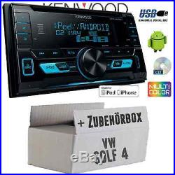 VW Golf 4 IV Kenwood 2 DIN USB CD MP3 Radio de voiture Set d'installation