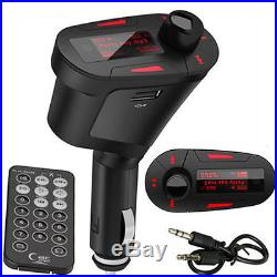 Wireless Car FM Radio Transmitter Audio USB SD Card Slot Kit MP3 Player + Remote